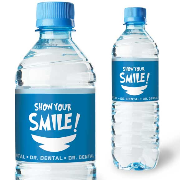Economy water bottle labels
