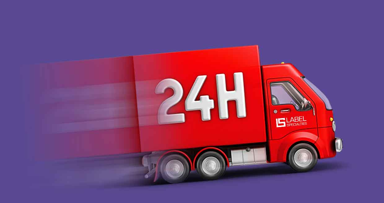 24-hour delivery truck